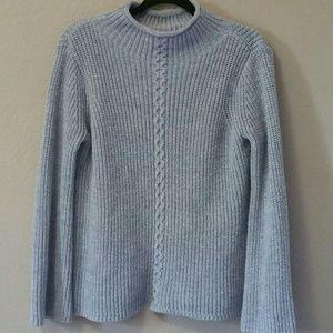 Rib Wool Knit Sweatshirt